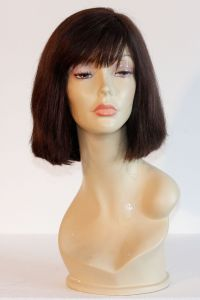 available for rent: medium length hazel wig in human hair, Georgie look
