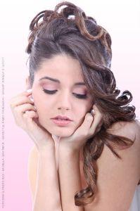 Face closeup Bridal MakeUp