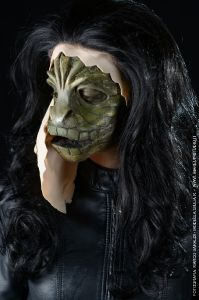 Alien Lizard mask prosthetic