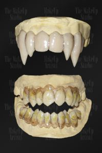 vampire and zombie teeth prosthetics