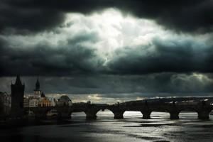 Temporale a Praga, fotografia di Gabriele Bertolini